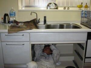 唐笠邸キッチン水栓の交換