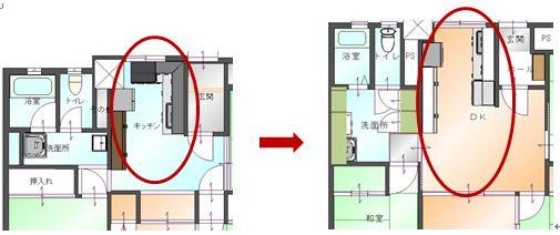 飯島邸キッチン図面画像